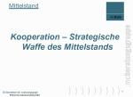 Kooperation - Strategische Waffe des Mittelstands